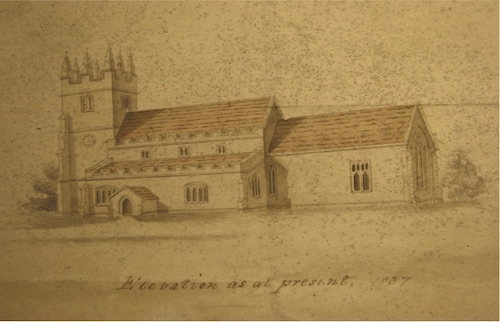 St Andrews Church in 1837